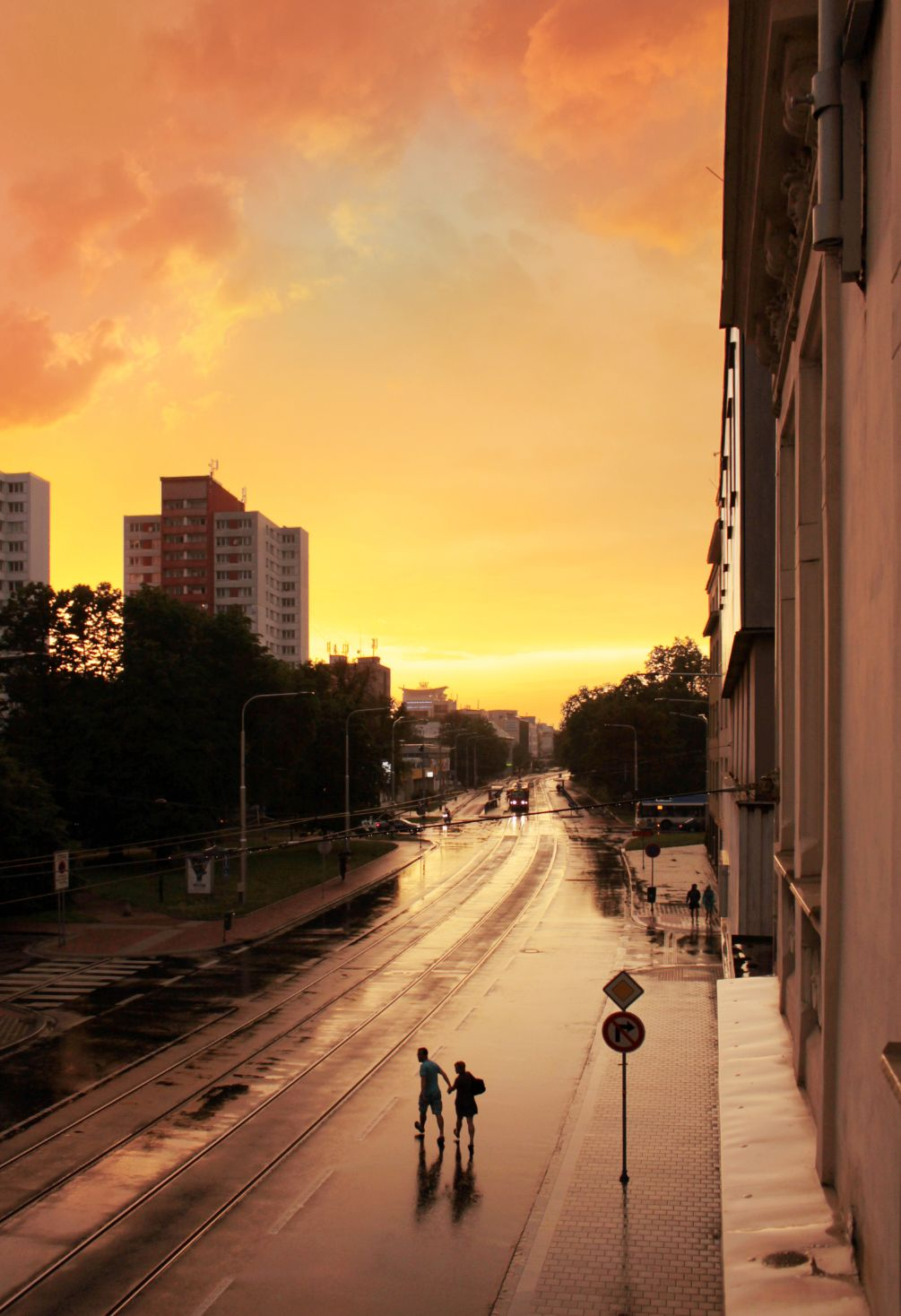 俄斯特拉发,城市,雨,湿,黎明,云,天堂,天空,房屋,人,浪漫,滴剂,下雨了,湿气