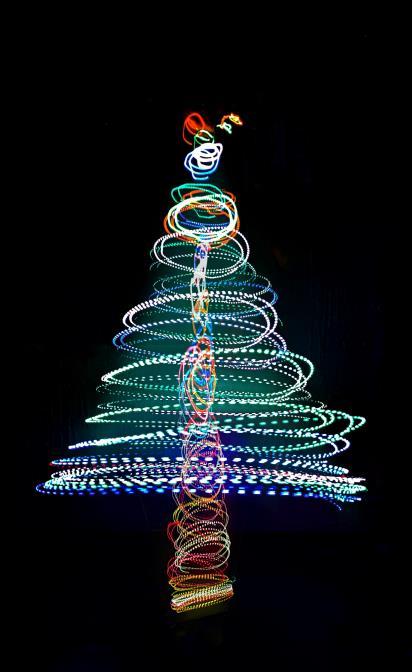 圣诞,光绘,夜景,艺术